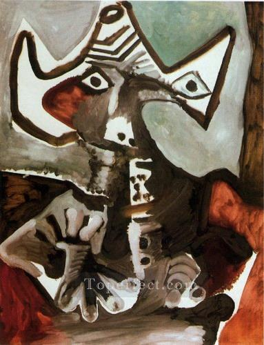 Homme assis 1972 Cubism Oil Paintings