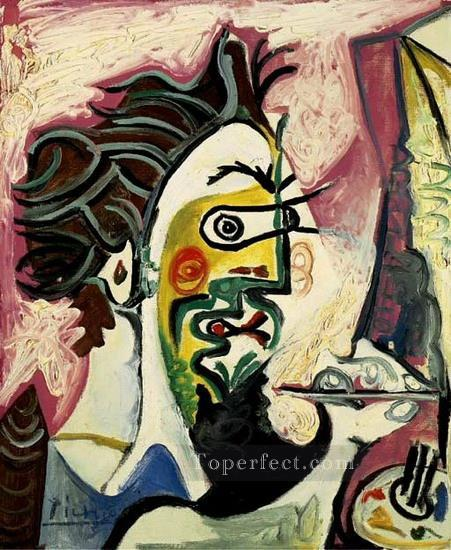 Le peintre II 1963 Cubism Oil Paintings