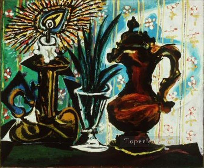 Nature morte a la bougie 1937 Cubism Oil Paintings