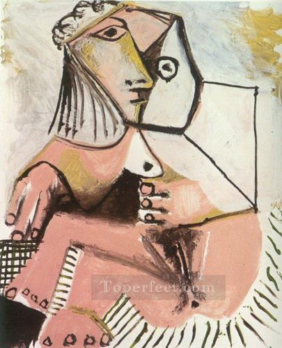 Nue assise 1 1971 Cubist Oil Paintings