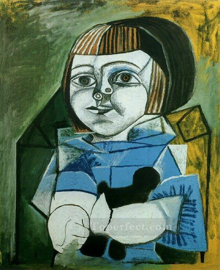 Paloma en bleu 1952 Cubist Oil Paintings