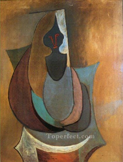 Personnage 1917 Cubist Oil Paintings