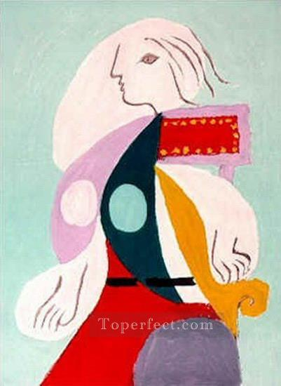 Portrait de Marie Therese Walter 1939 Cubist Oil Paintings