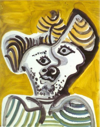 Tete d homme 3 1972 Cubist Oil Paintings