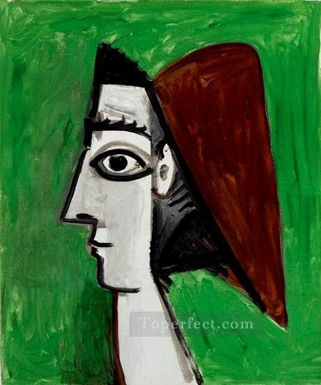 Visage feminin profil 1960 Cubist Oil Paintings