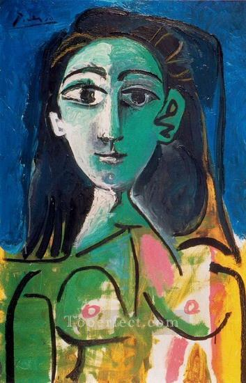 Portrait de Jacqueline 1956 Cubist Oil Paintings