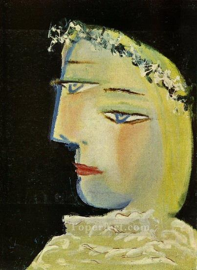 Portrait de Marie Therese 3 1937 Cubist Oil Paintings