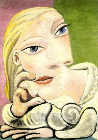 Portrait de Marie Therese Walter 1932 Cubist Oil Paintings