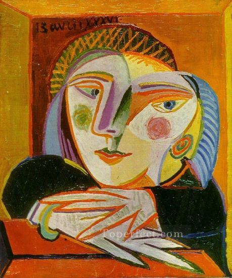 Femme a la fenetre Marie Therese 1936 Cubists Oil Paintings