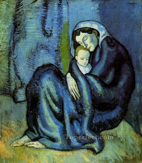 mere et enfant 1 1905 Cubists Oil Paintings