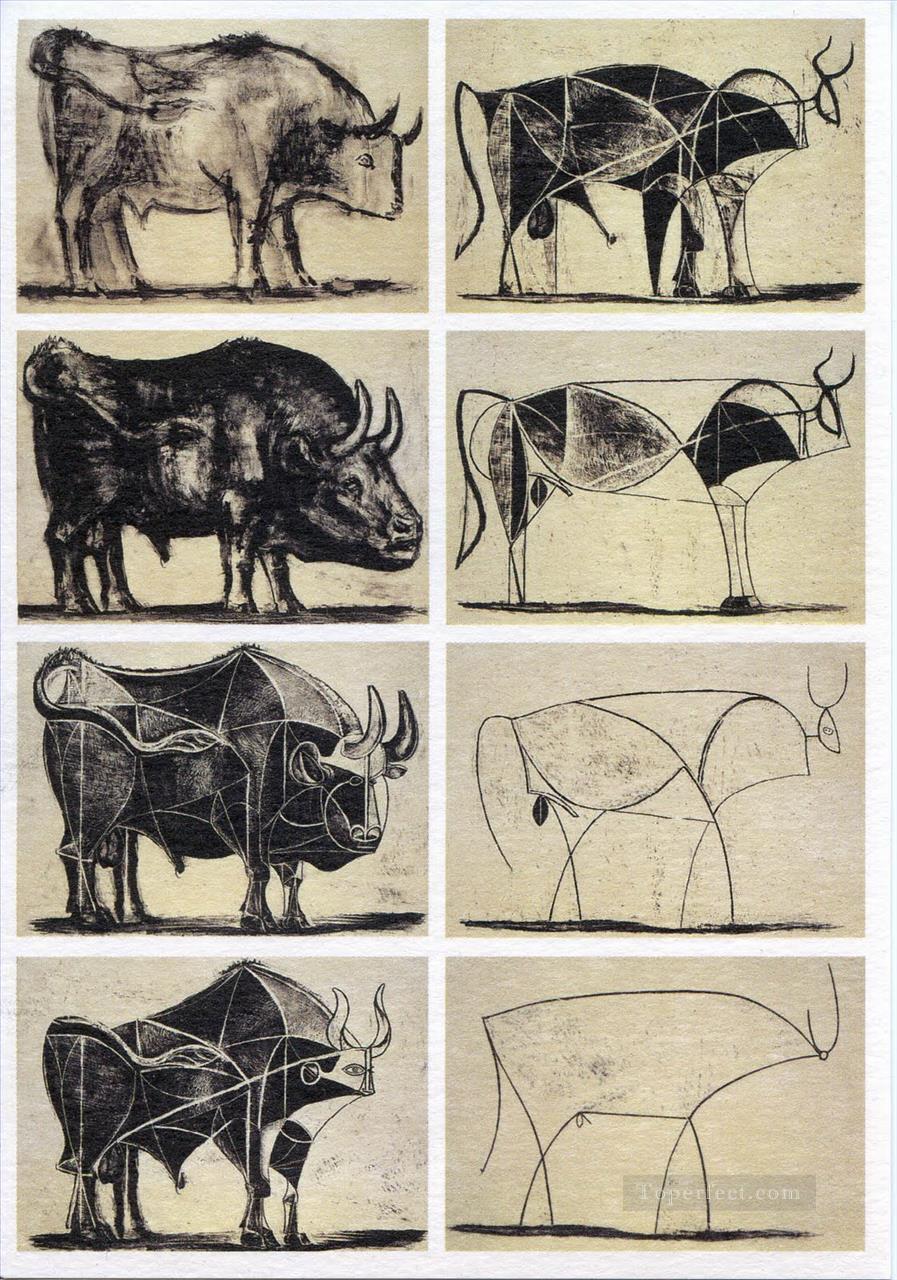 Bull Cubists Oil Paintings