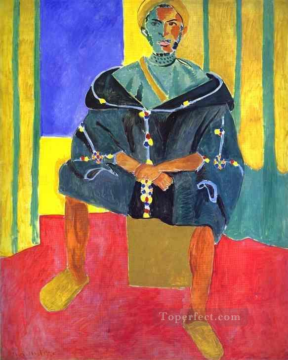 A Sitting Rifain Fauvism Oil Paintings