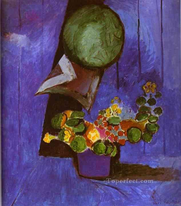 Flowers and Ceramic Plate Fauvism Oil Paintings