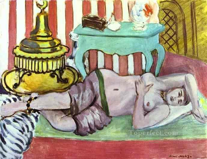 Odalisque with Green Scarf Fauvism Oil Paintings
