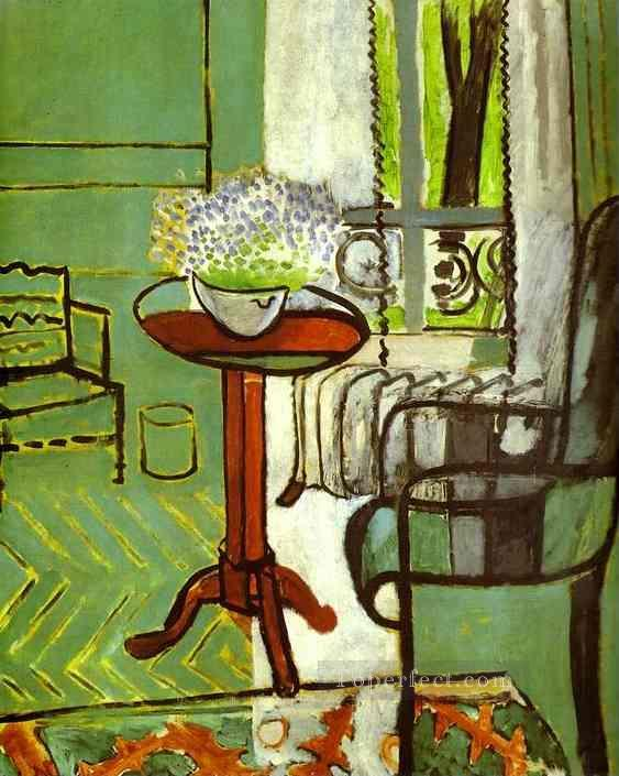 The Window Interior with Forget Me Nots 1916 Fauvist Oil Paintings