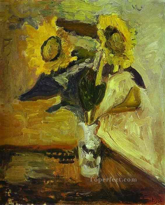 Vase of Sunflowers 1898 Fauvist Oil Paintings