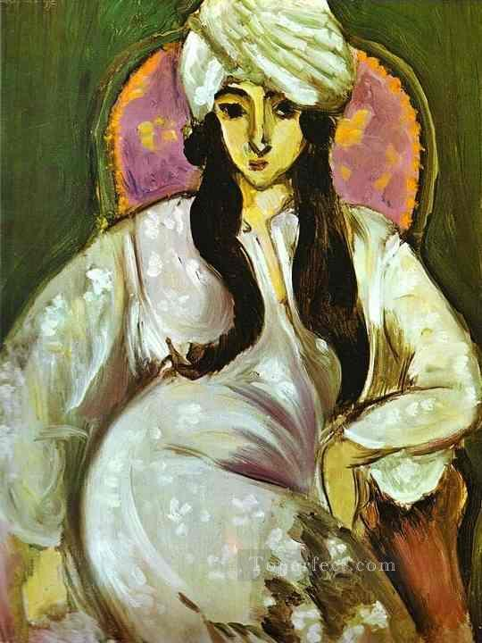 Laurette in a White Turban 1916 Fauvist Oil Paintings