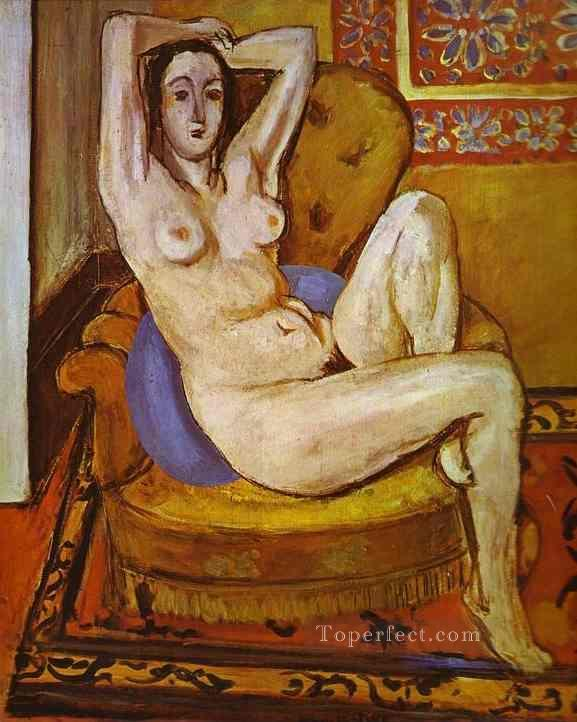 Nude on a Blue Cushion 1924 Fauvist Oil Paintings