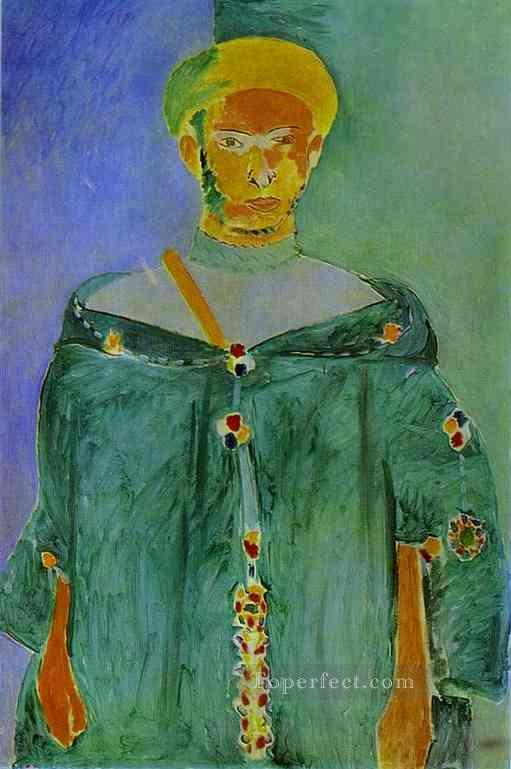 The Moroccan in Green 1912 Fauvist Oil Paintings