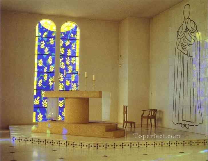 Interior of the Chapel of the Rosary Vence 1950 Fauvist Oil Paintings