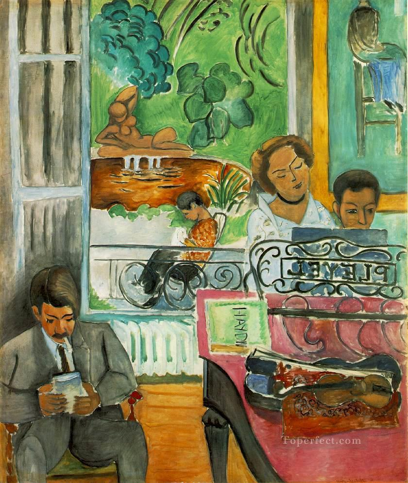 The Music Lesson La lecon de musique Fauvist Oil Paintings