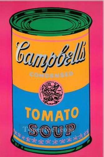 Campbell Soup Can Tomato POP Artists Oil Paintings