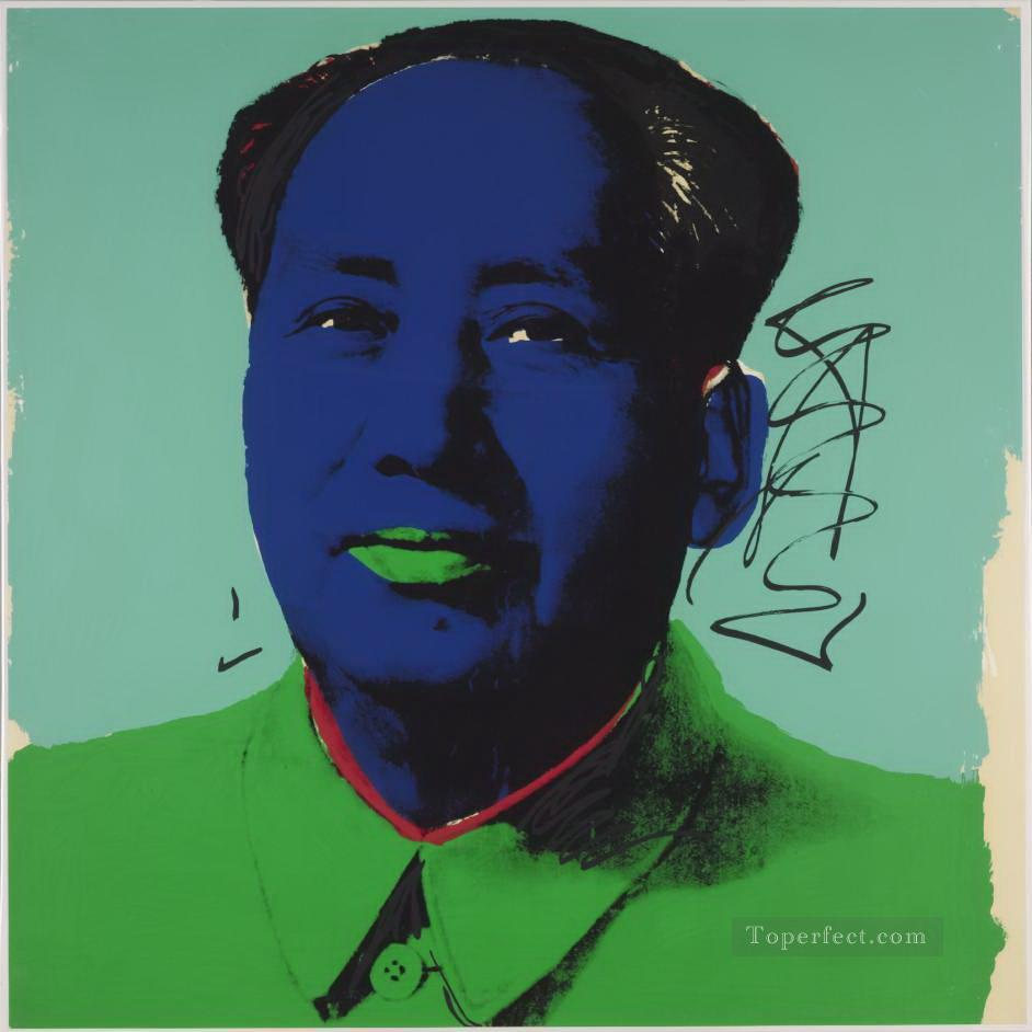 Mao Zedong 5 POP Artists Oil Paintings