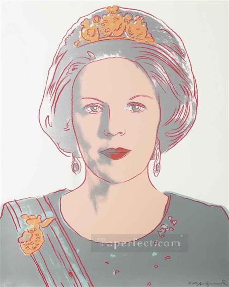 Queen Beatrix of the Netherlands from Reigning Queens POP Artists Oil Paintings