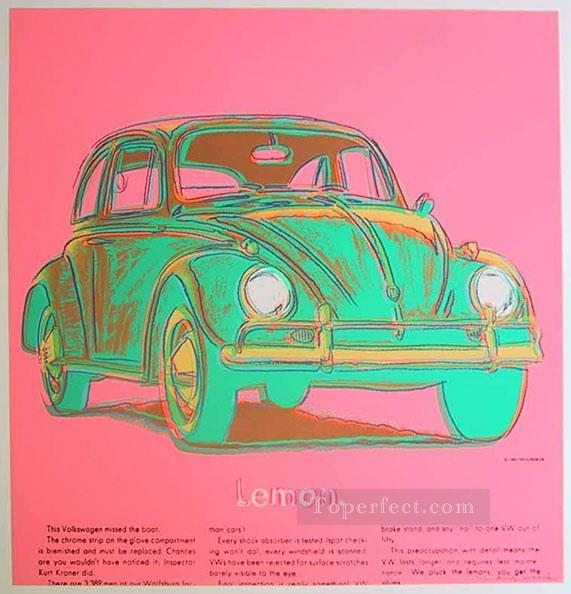 Volkswagen pink POP Artists Oil Paintings