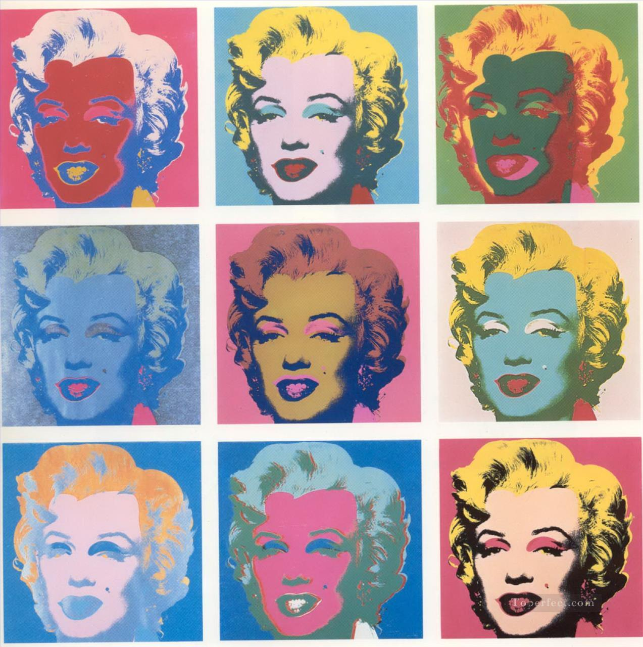 Marilyn Monroe List POP Artists Oil Paintings