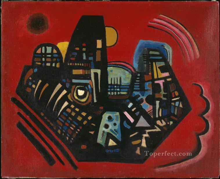 Black Red Abstract Oil Paintings