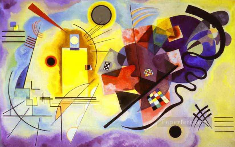 Yellow Red Blue Wassily Kandinsky Abstract Oil Paintings