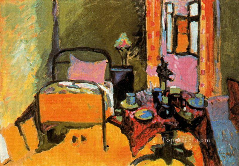 Bedroom in Aintmillerstrasse Abstract Oil Paintings