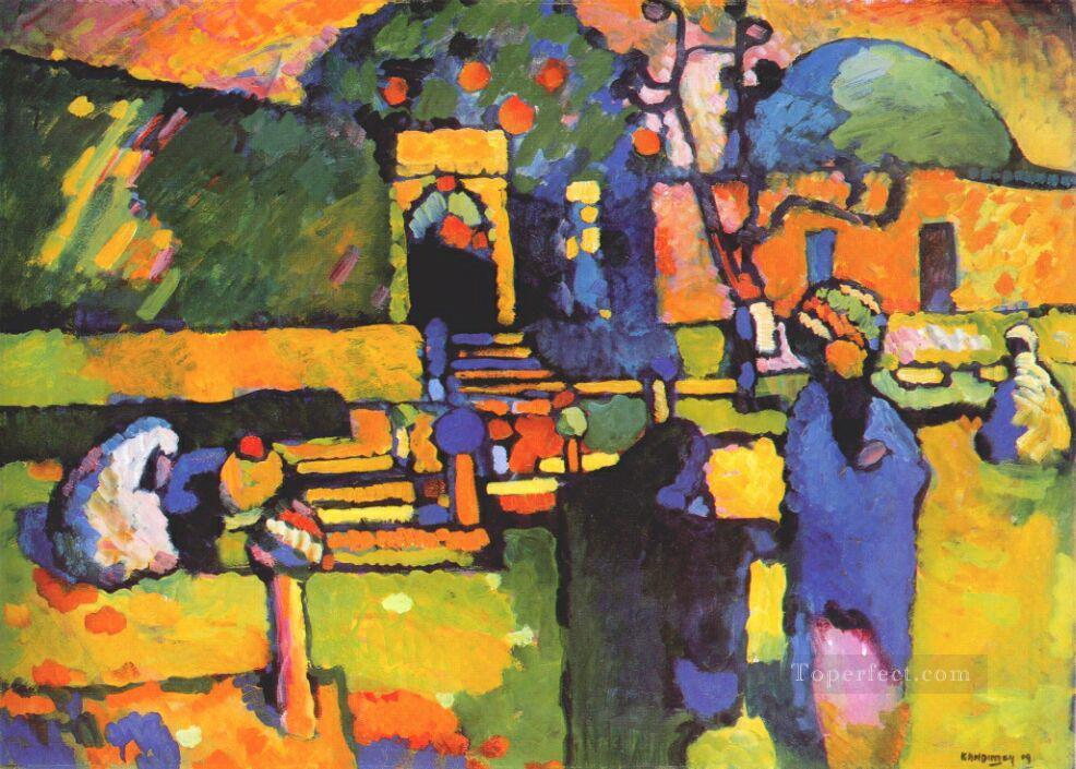 Arabs I Cemetery Abstract Oil Paintings