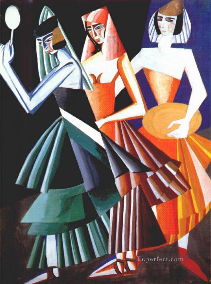costume design for dance of the seven veils 1917 Alexandra Exter abstract Oil Paintings
