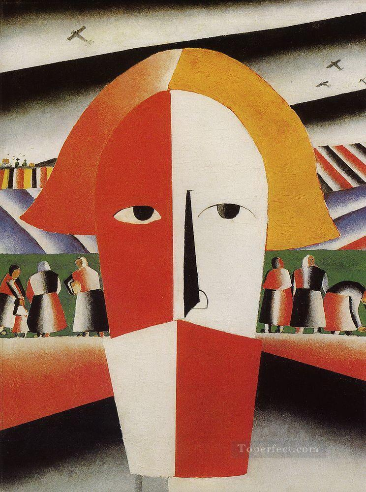 head of a peasant 1929 Kazimir Malevich abstract Oil Paintings