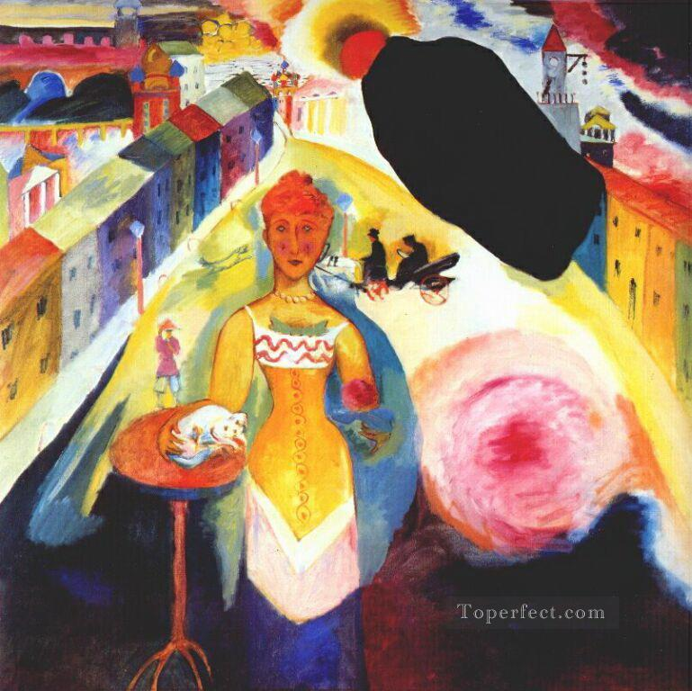 Lady in Moscow Abstract Oil Paintings