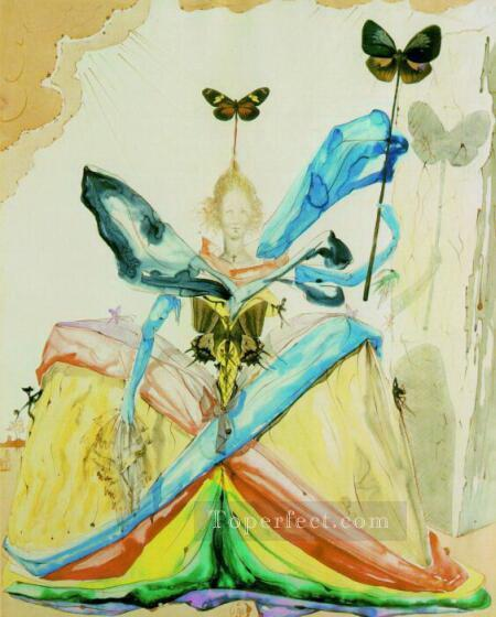 The Queen of the Butterflies Surrealist Oil Paintings