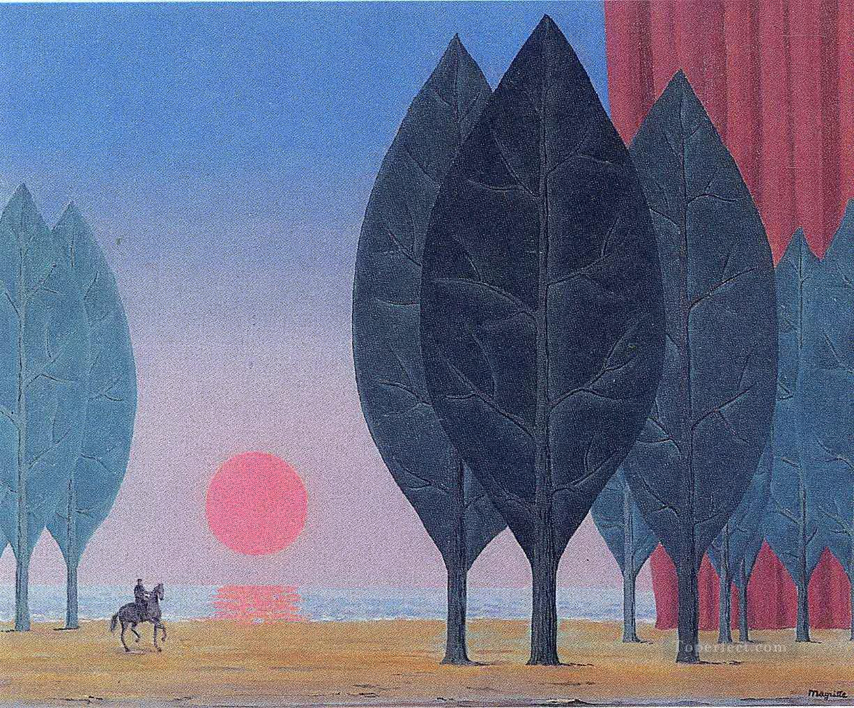 forest of paimpont 1963 Surrealist Oil Paintings