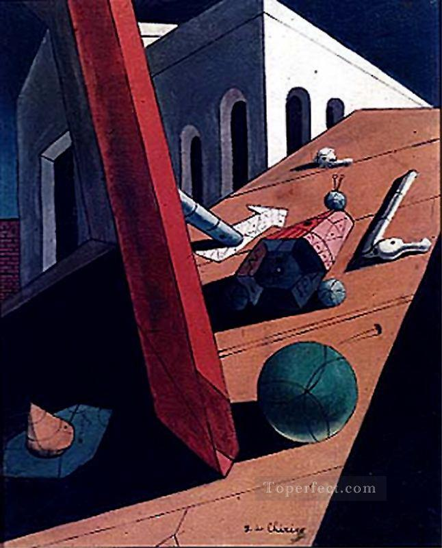 the evil genius of a king 1915 Giorgio de Chirico Surrealism Oil Paintings