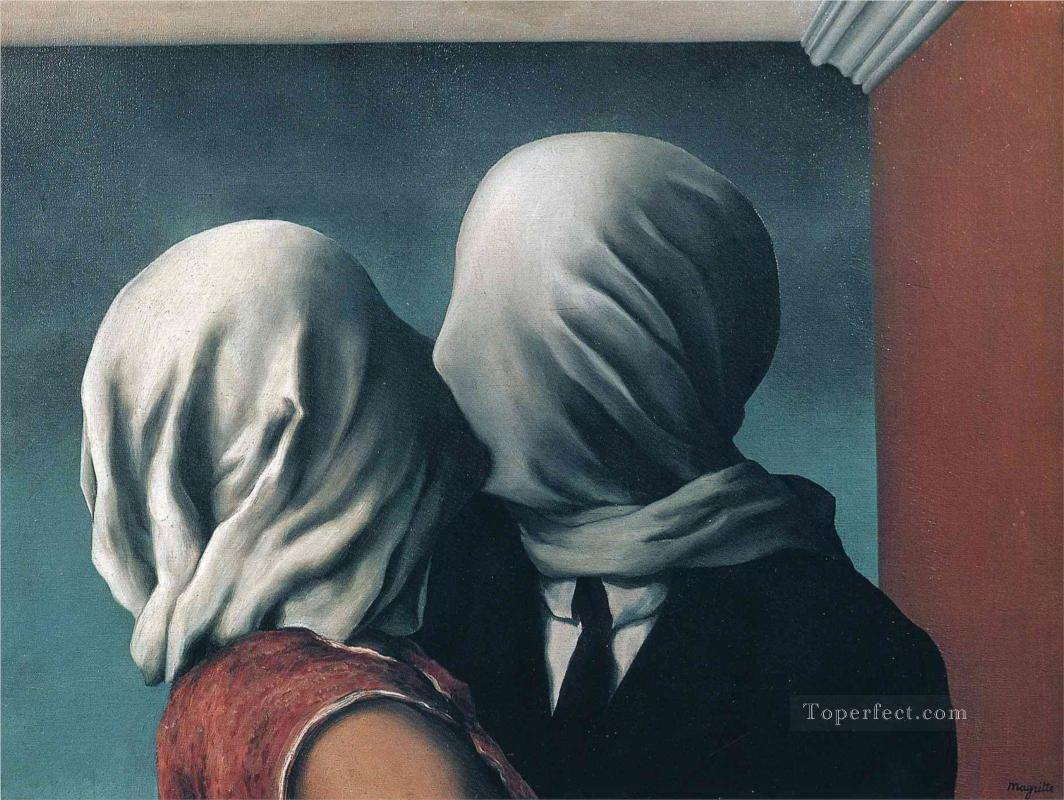 the lovers Surrealist Oil Paintings