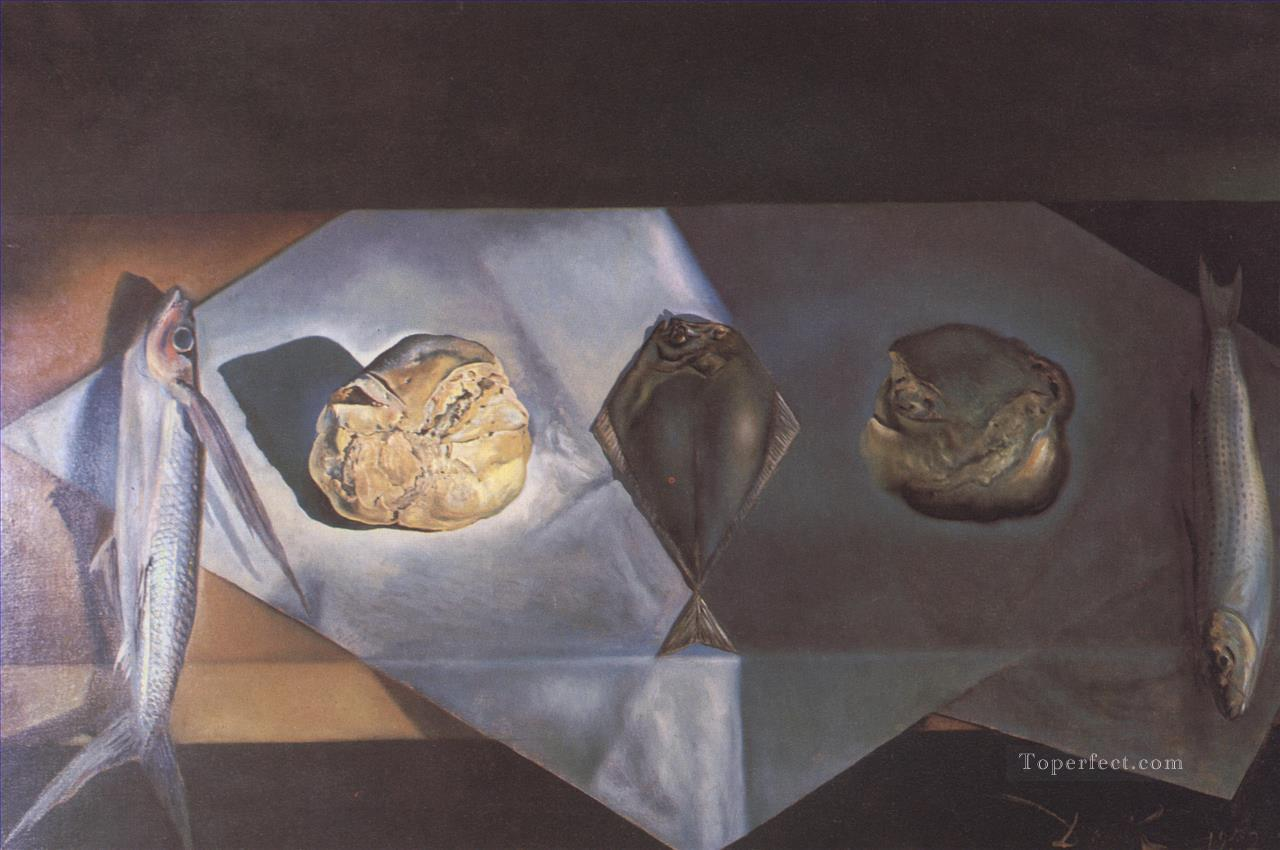 Eucharistic Still Life Surrealism Oil Paintings