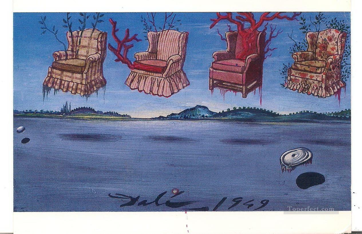 Four Armchairs in the Sky Surrealism Oil Paintings