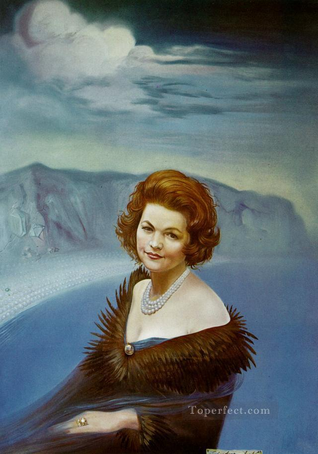 Portrait of Mrs Ruth Daponte 1965 Surrealism Oil Paintings