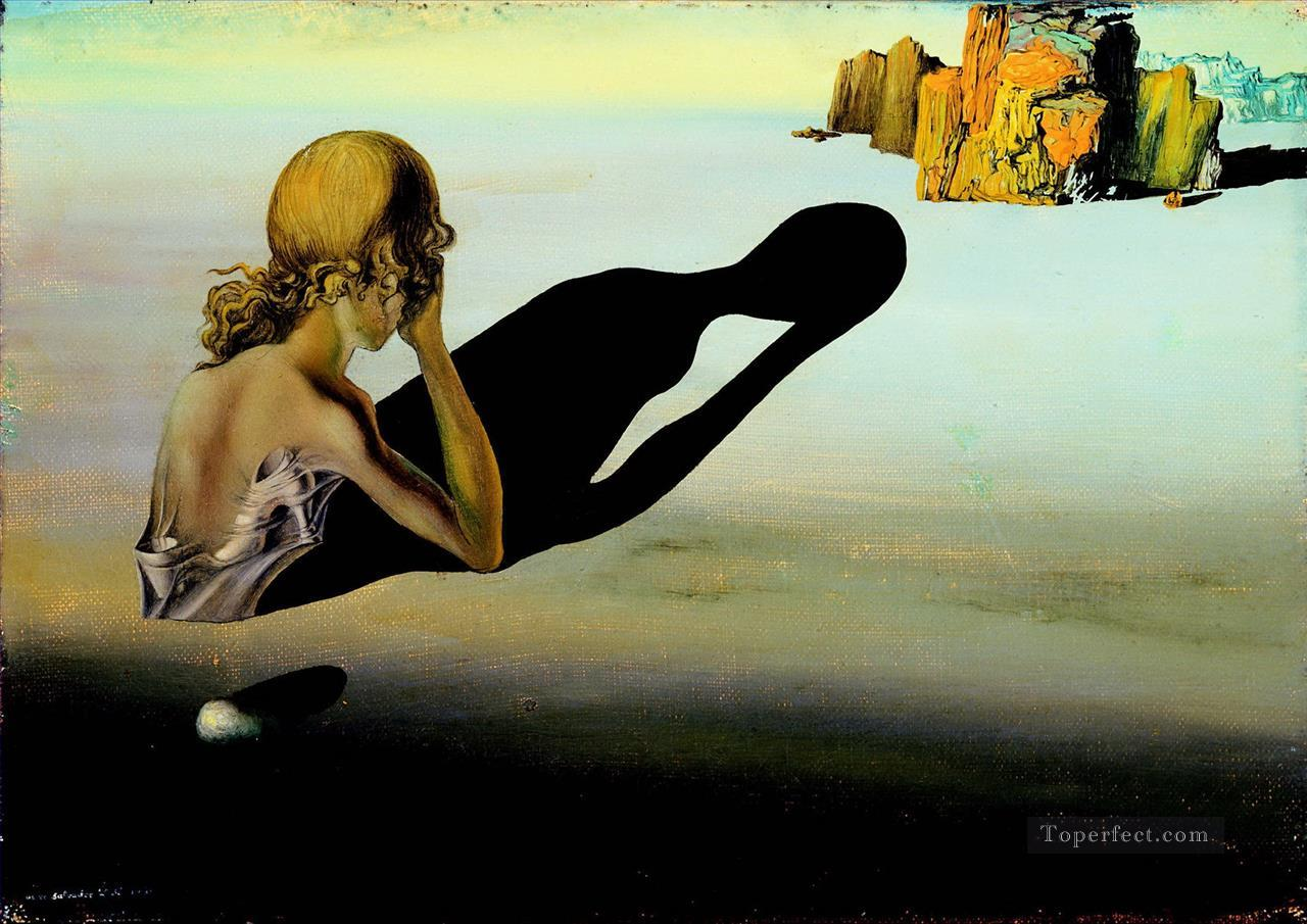 Remorse or Sphinx Embedded in the Sand Surrealism Oil Paintings
