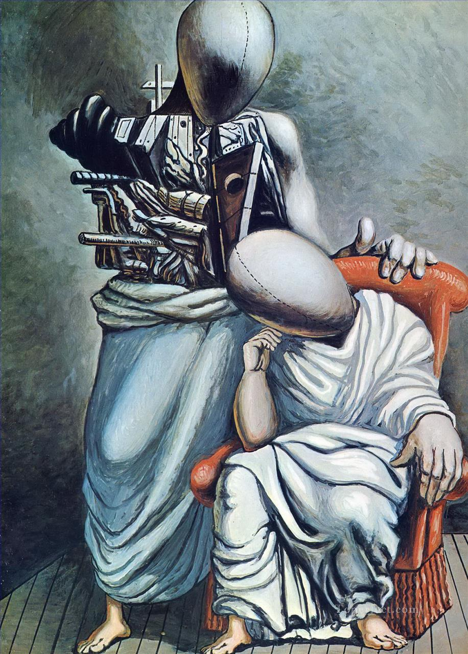 the one consolation 1958 Giorgio de Chirico Surrealism Oil Paintings