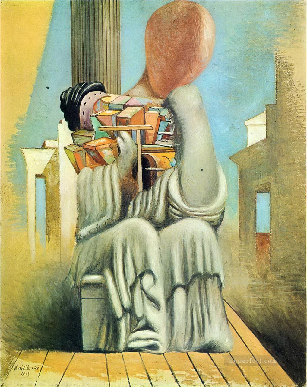 the terrible games 1925 Giorgio de Chirico Surrealism Oil Paintings