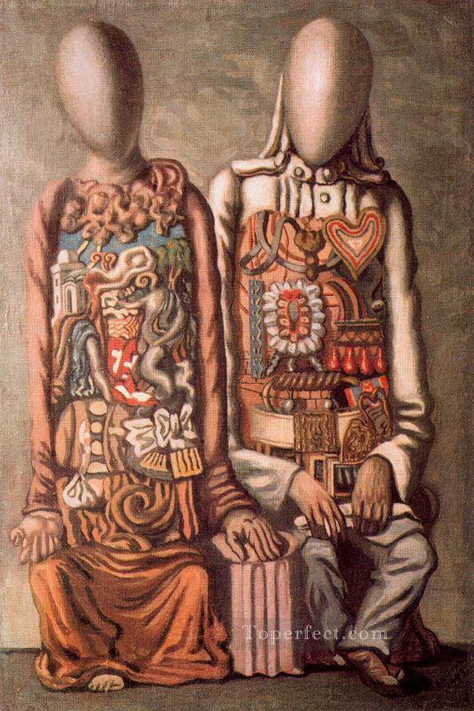 colonial mannequins 1943 Giorgio de Chirico Surrealism Oil Paintings