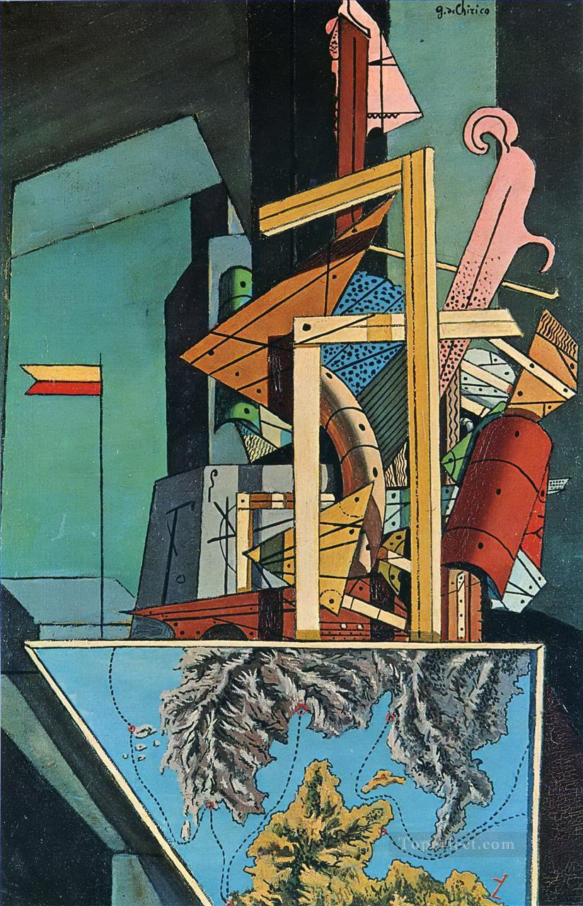 melancholy of department 1916 Giorgio de Chirico Surrealism Oil Paintings