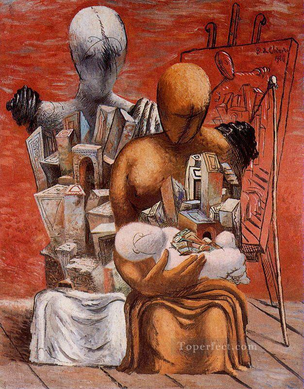 the painter s family 1926 Giorgio de Chirico Surrealism Oil Paintings